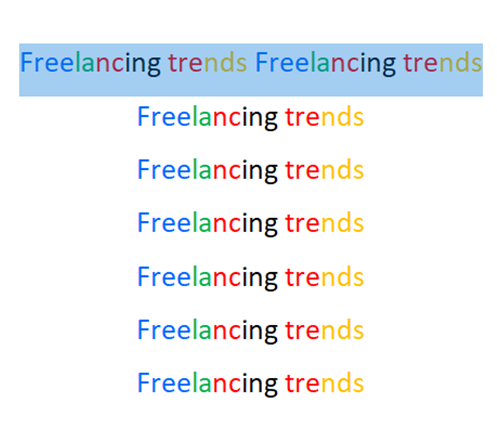 Freelancing trends