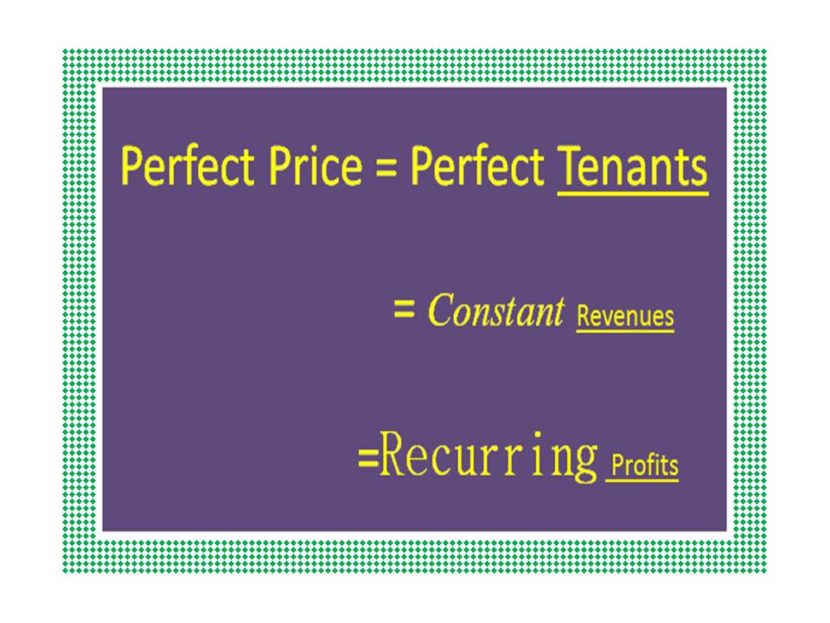 perfect rent price